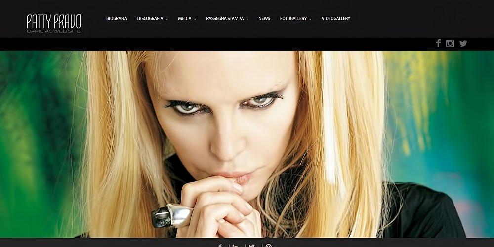 Patty Pravo Official web site